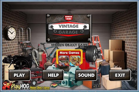 Challenge #180 Vintage Garage Hidden Objects Games - náhled