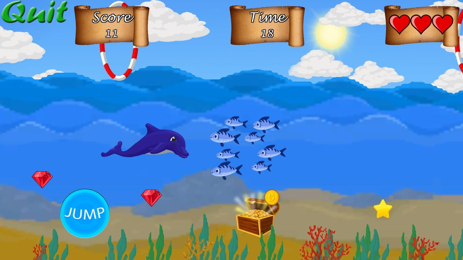 Dolphin Run- screenshot