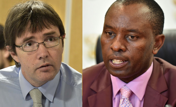 Roger Baxter, left, and Mosebenzi Zwane.     Pictures: SUNDAY TIMES, FINANCIAL MAIL