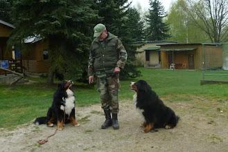 Photo: Pavel cvičí s Kristofem i Persíkem dohromady