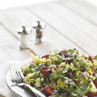 Strawberry Salad with Mint Dressing and Greens