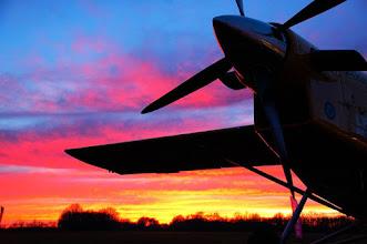 Photo: Un PC-6 au sunset