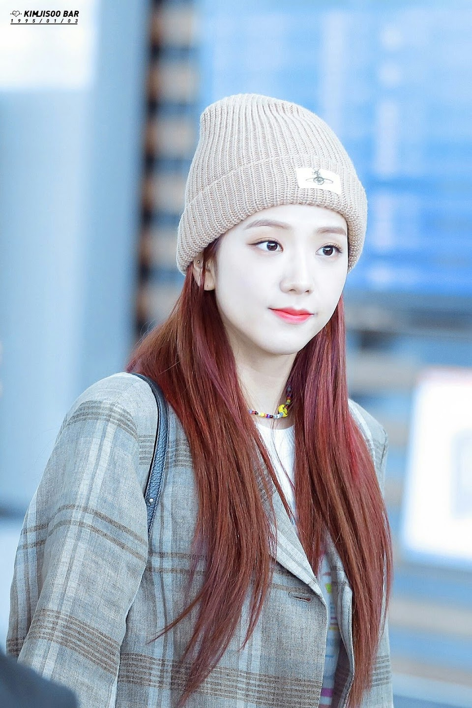 jisoo plaid 10