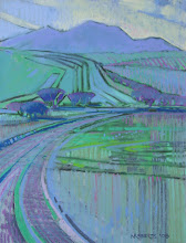 Photo: Sand Creek Terrain, pastel by Nancy Roberts, copyright 2014. Private collection.