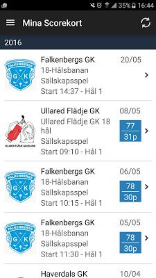 OnTag Scorekort - screenshot
