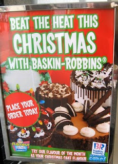 Baskin Robbins in Sydney asking diners to beat the Christmas heat