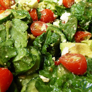 Spinach Avocado Salad with Sesame Vinaigrette (Gluten-Free)