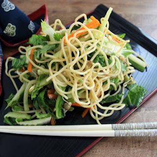 Cold Sesame Noodle Salad.