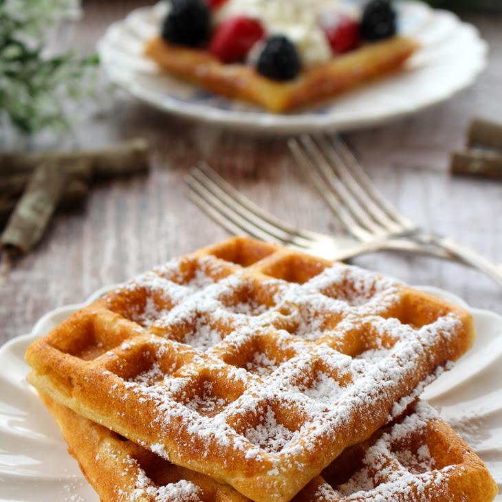 Light & Crispy Belgian Waffles Recipe