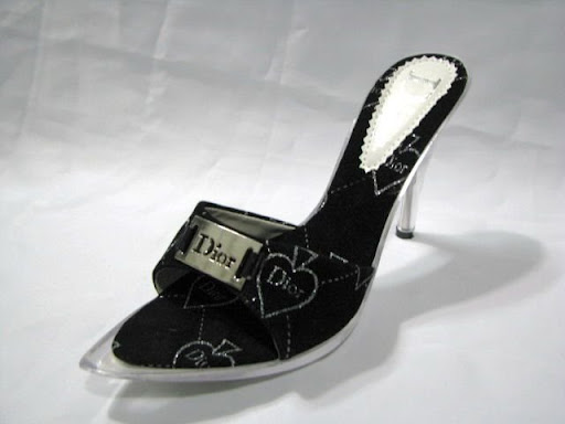 2010 black bridesmaid sandal