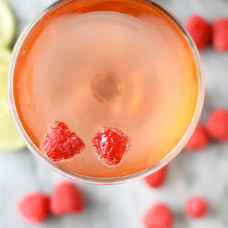 Raspberry and Ginger Beer Champagne Cocktail.