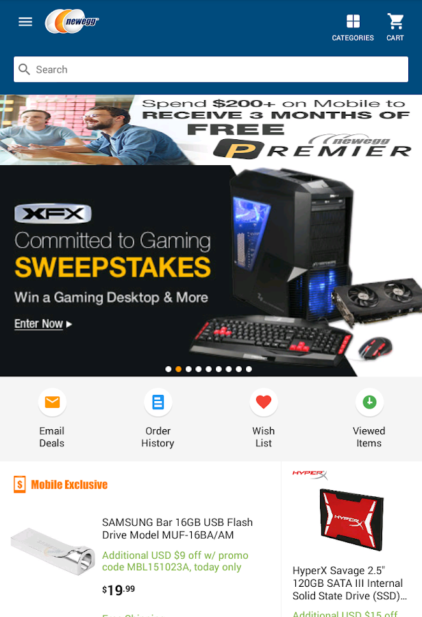 Newegg Mobile- screenshot