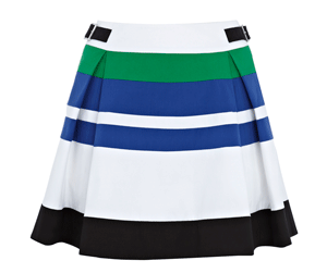 Karen Millen Colourblock Graphic Stripe Skirt