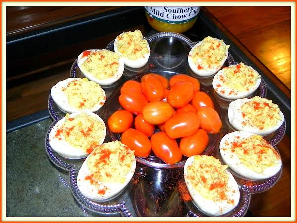 Hollyann's Stop The Music Deviled Eggs Recipe