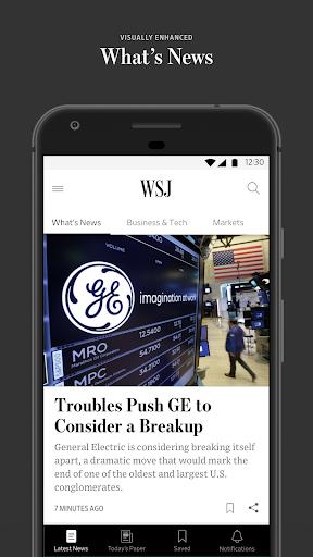 The Wall Street Journal: Business & Market News 4.8.0.30 screenshots 1
