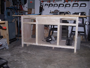 Photo: Sewing room cabinet. I started with this one to work out the design and dimensions for all the cabinets.