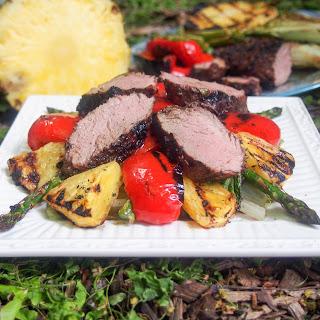 Grilled pork and pineapple salad #SundaySupper