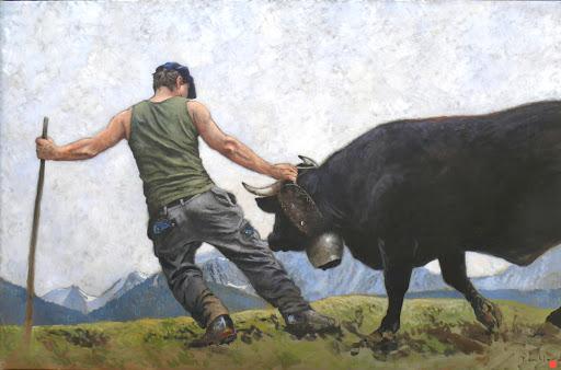 Ame noire. oil on canvas, 110x160cm