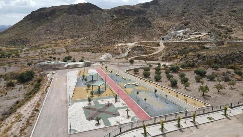 Las instalaciones del nuevo \'Parque de Cristal\', situado en la pedanía de Los Higuerales.