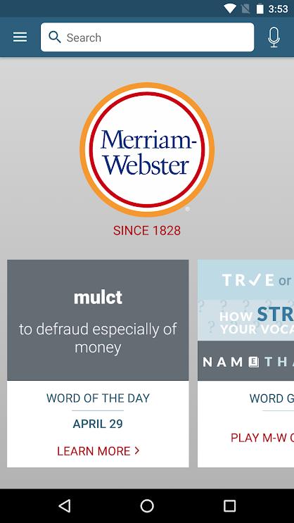 تطبيق أفضل قاموس وقاموس المرادفات في أمريكا Dictionary M-W Premium v4.2.0 [مدفوع]