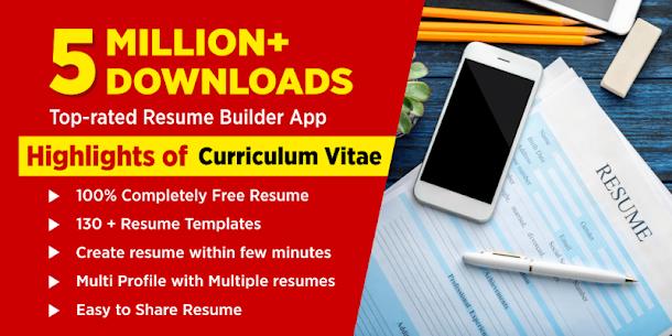Resume Builder App Free CV Maker & PDF Templates (MOD, Premium) v7.4 1