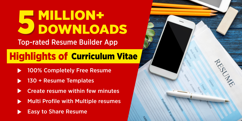Resume Builder App Free Cv Maker Pdf Templates Android Apps