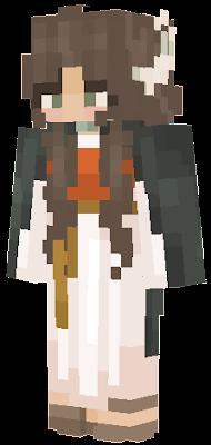 https://www.minecraftskins.com/skin/13931981/medieval-dress-outfit-base/ https://www.minecraftskins.com/skin/13661536/elven-cloak---ob--hood-down-/