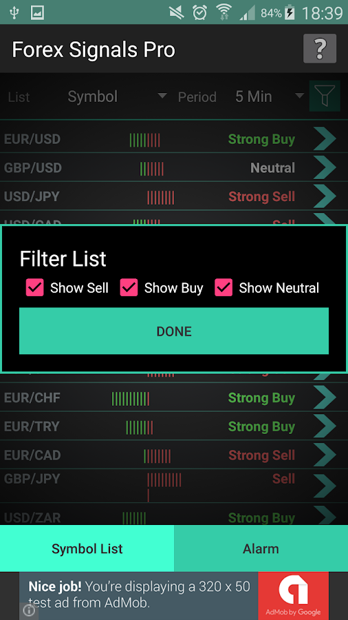 Forex Signals Professional- screenshot