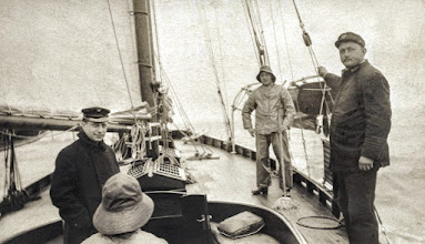 """Photo: Osmund was captain of the 102 foot auxiliary twin screw Schooner Yacht """"Vision"""" owned by H. Francis Dyruff, NY Yacht Club. Maternal grandfather."""
