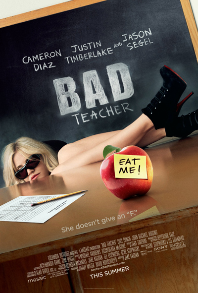 Bad Teacher, new, movie, Poster, Cameron Diaz