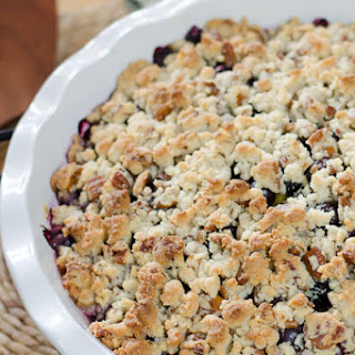 Paleo Peach & Blueberry Crisp
