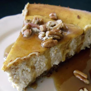Pumpkin Cheesecake with Gingersnappy crust.
