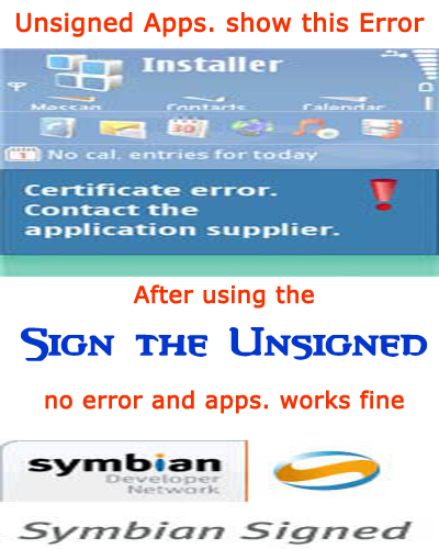 Sign the Unsigned Symbian - 100% Working and Easy