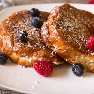 Berries and Cream Stuffed French Toast Croissants Recipe