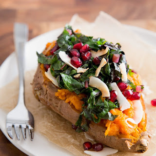 Coconut & Rainbow Chard Baked Potato