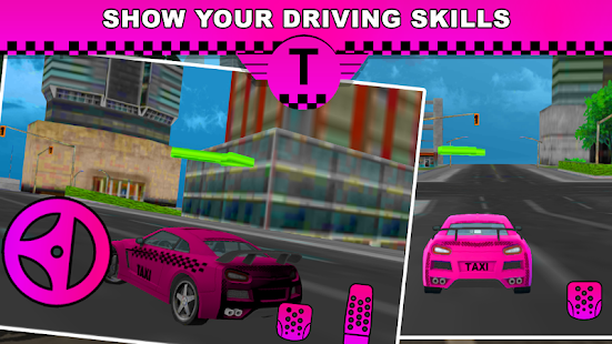 Pink Lady Crazy Taxi Driver 3D - náhled