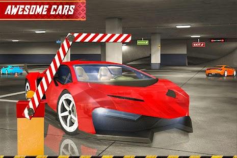 přesný parkoviště řídit: auto parkoviště - náhled