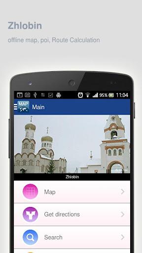 Zhlobin Map offline