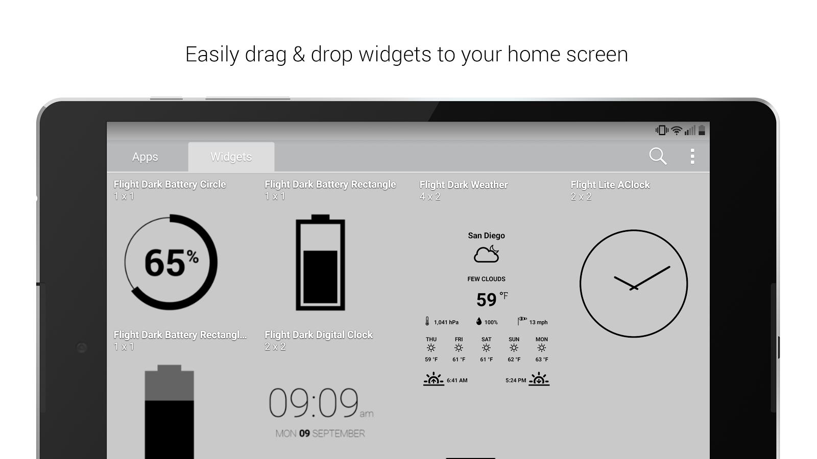 Dark theme gmail app - Flight Dark Flat Icon Theme Screenshot