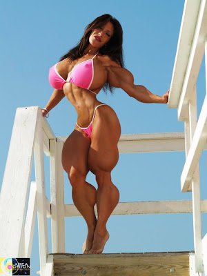 Nena Cortes female muscle morph