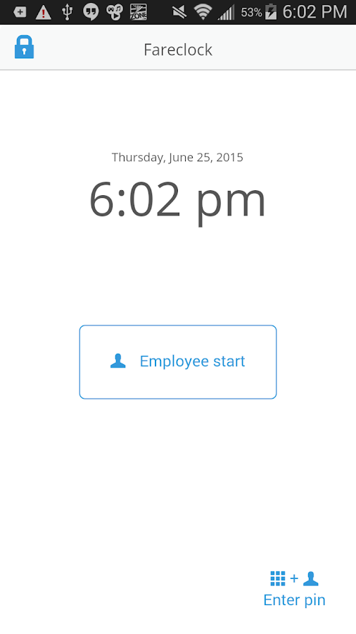 Fareclock Time Clock- screenshot