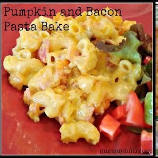 Pumpkin and Bacon Pasta Bake