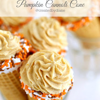 Pumpkin Cannoli Cones
