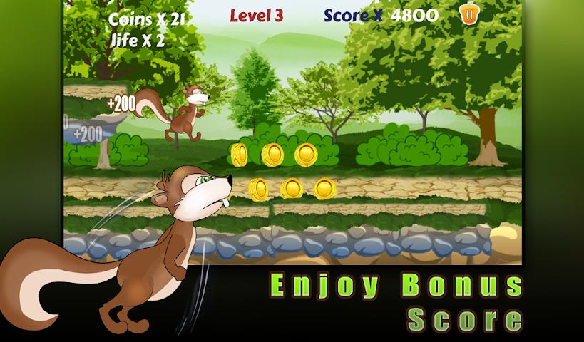 android Squirrel run-Ultimate runner Screenshot 2