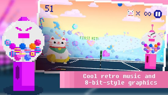 Candy Cat Tennis – 8-bit bash- screenshot thumbnail