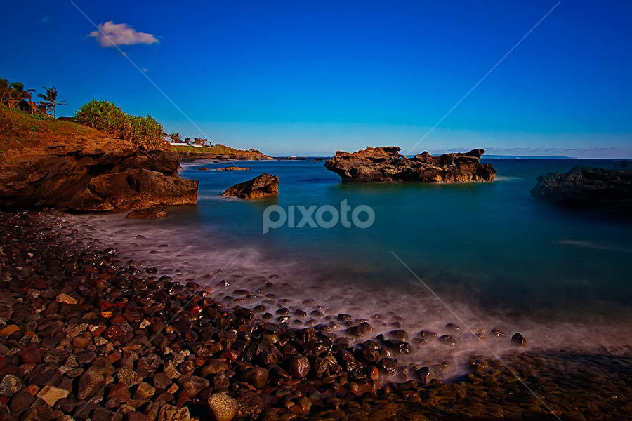 Mengening Beach in my Motion by TEDDY ZUSMA - Nature Up Close Rock & Stone