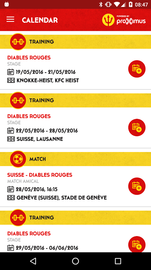Belgian Red Devils by Proximus- screenshot
