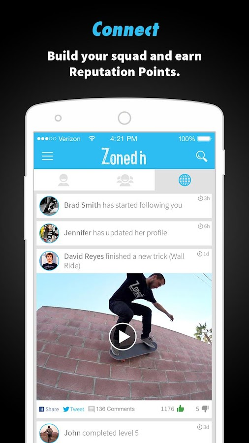 ZonedIn Skate- screenshot