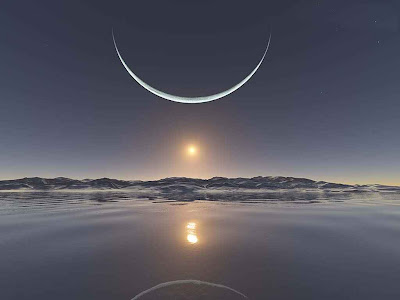 Sunrise in North Pole