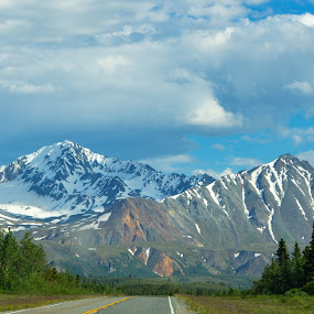 End OF  Road by Rebecca Weatherford - Landscapes Mountains & Hills ( geology, mountains, colors, alaska )